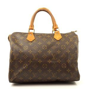 Auth Louis Vuitton Speedy 30 Satchel #6731L20